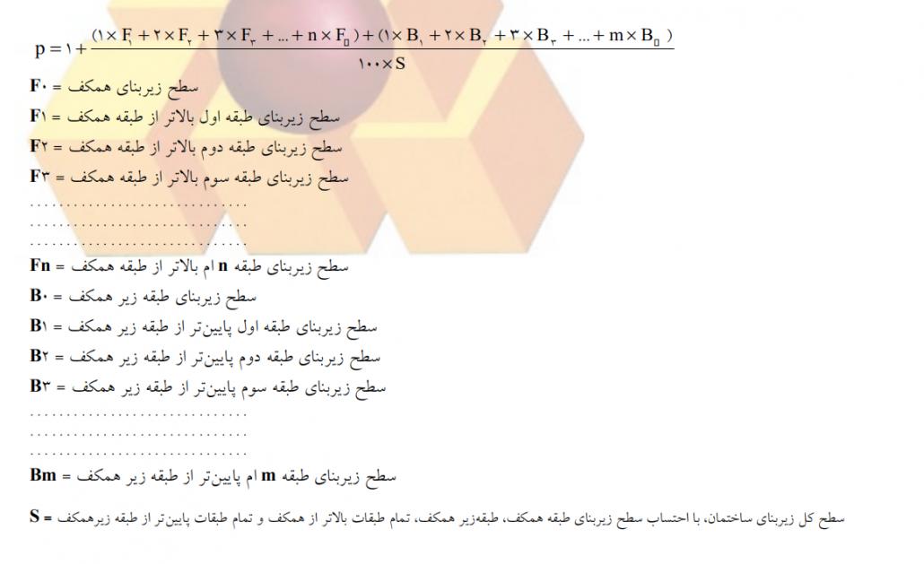 شکل 10(فرمول محاسبه ضریب طبقات)